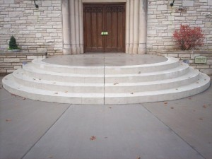 Stamped Concrete steps done for a church in St. Louis