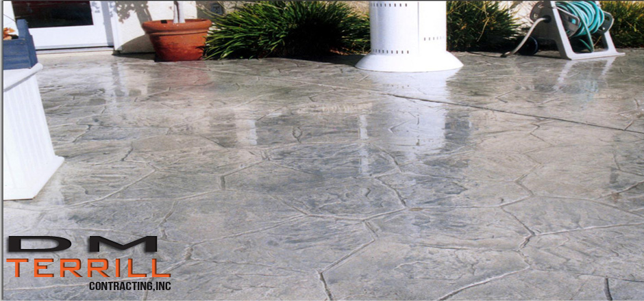 DM Terrill stamped concrete example