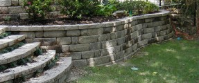 DM Terrill retaining wall with steps
